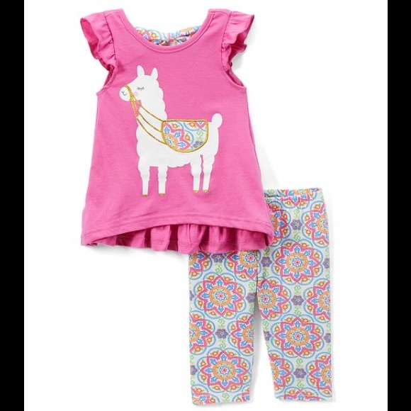 🎉🎉HOST PICK 6/11🎉🎉 Pink Llama Bow Top/Leggings